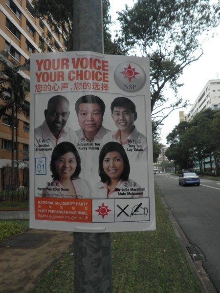 Kandidat anggota parlemen dari NSP wilayah Chua Chu Kang