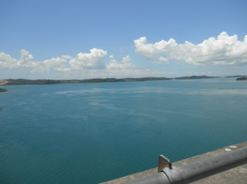 Straits view below Barelang bridge