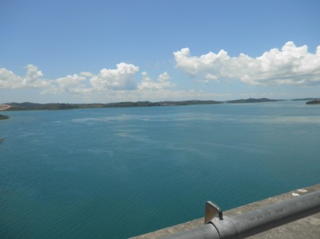 Straits view below Barelang bridge