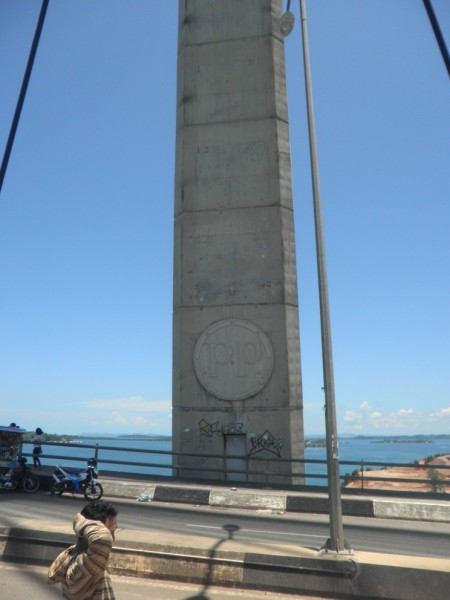 One of Barelang bridge's pillars